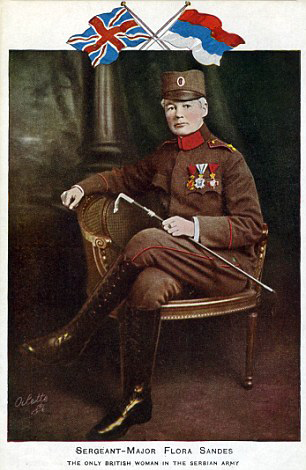 [ Postcard of Flora Sandes in the Serbian Army, 1918 ]